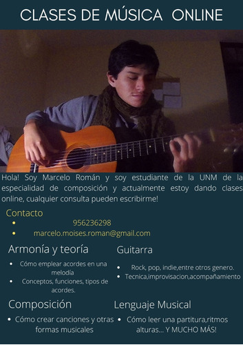 clases de guitarra y teoría de la música online