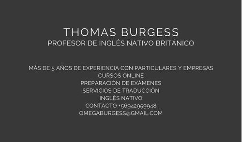 clases de inglés con profesor nativo!