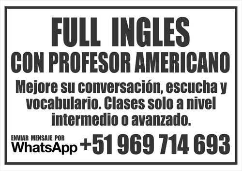 clases de ingles con profesor nativo whatsapp +51 969 714 69