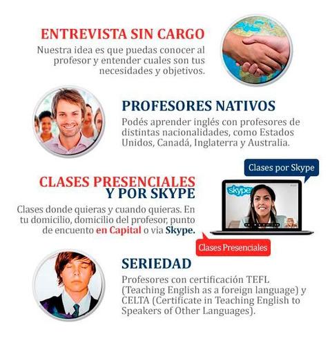 clases de inglés con profesores nativos de usa - inglaterra