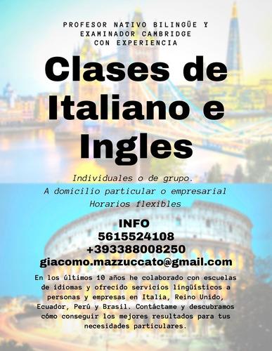 clases de ingles e italiano (a domicilio u online)