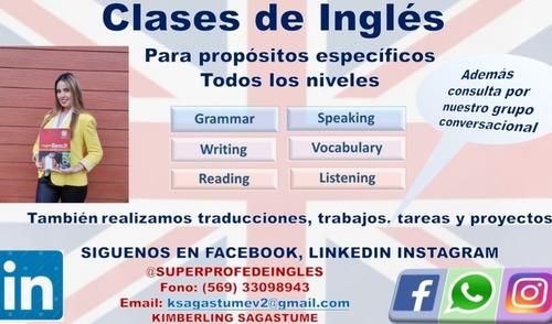 clases de inglés online con enfoque personalizadas $9000