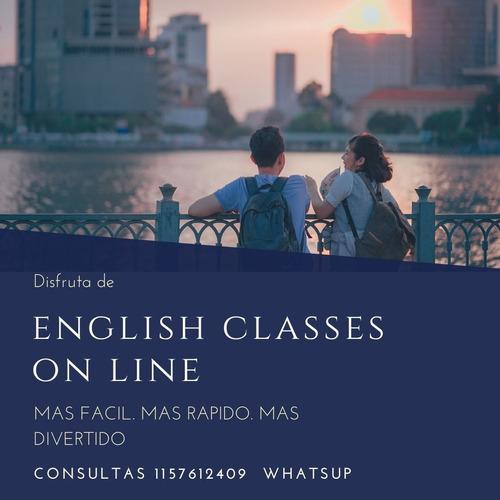 clases de ingles online meet  o zoom clases español .almagro
