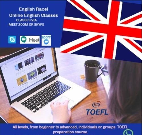clases de inglés online. preparación toefl.