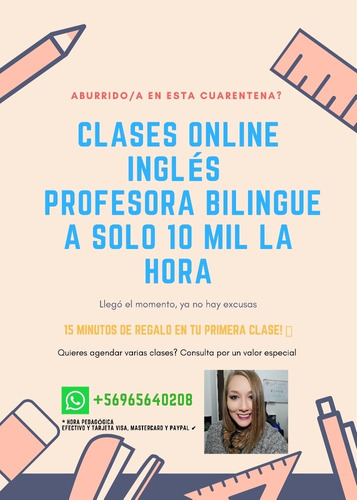 clases de ingles online! profesora bilingue y moderna