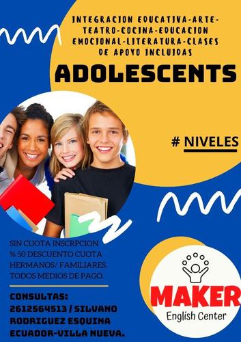 clases de inglés online y presencial