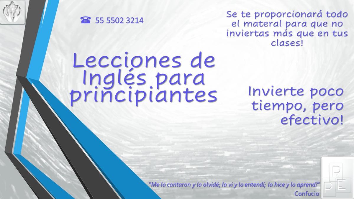Clases De Inglés Para Principiantes Personalizadas 100 En Mercado Libre