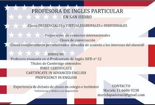 clases de inglés personalizadas