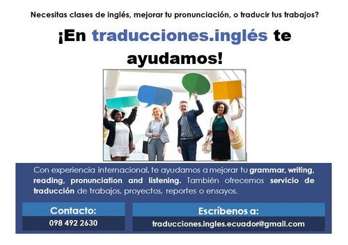 clases de inglés, pronunciación y servicio de traducciones