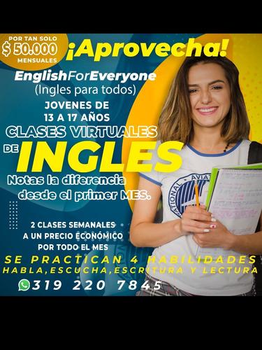 clases de inglés virtuales mensuales por zoom