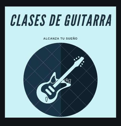 clases dé iniciación en guitarra eléctrica o acústica online