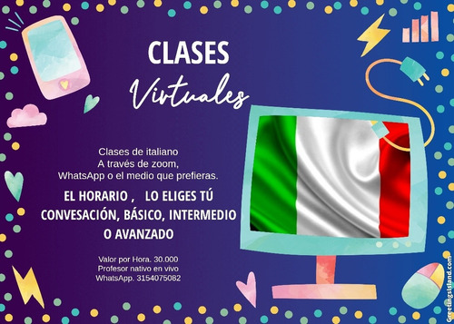 clases de italiano virtuales