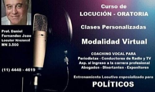 clases de locución y oratoria, modo virtual