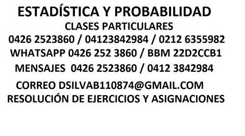 clases de matemática - cálculo - financiera - estadística.