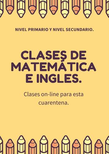 clases de matemática e inglés para esta cuarentena
