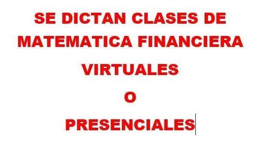 clases de matemática financiera se dictan virtuales