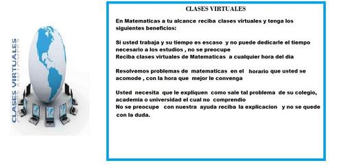 clases de matematicas a domicilio a s/15  la hora