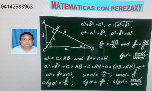 clases de matemáticas a domicilio y por redes sociales