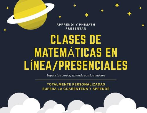 clases de matemáticas básico hasta universidad ayuda tareas