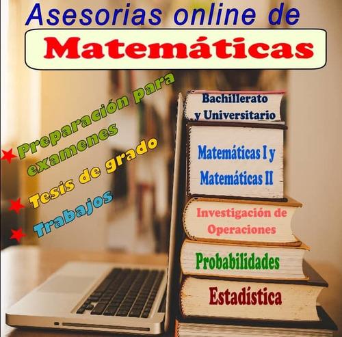clases de matemáticas - estadística - probabilidades
