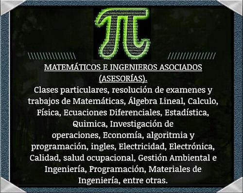 clases de matemáticas, física, electricidad, electrónica,..