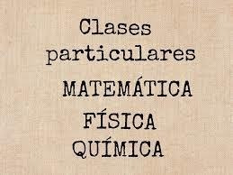 clases de matemáticas, física, química e inglés.