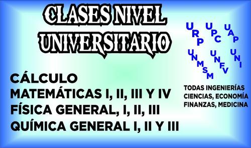 clases de matemáticas, física, química y cursos universitari