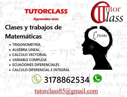 clases de matemáticas, física y estadística