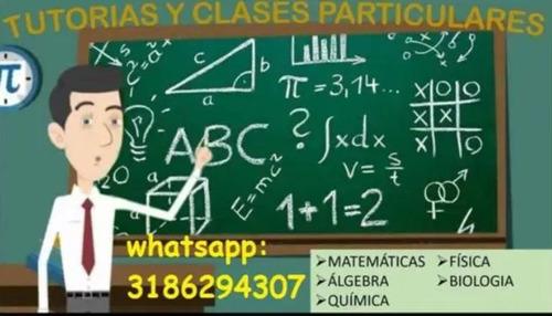 clases de matematicas fisica y quimica (asesoría en tareas)