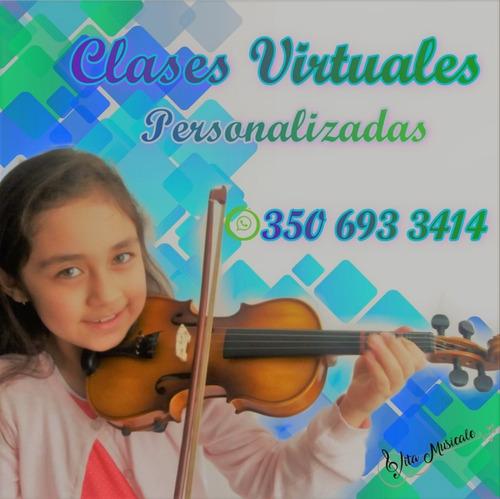 clases de música personalizadas, virtuales.