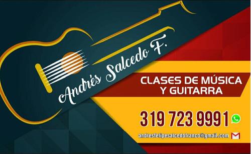 clases de música y guitarra totalmente personalizadas.