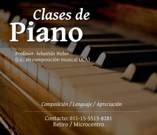 clases de piano a domicilio  ¿