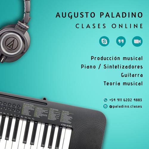 clases de piano, guitarra, teclados, música online