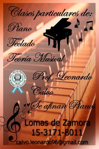 clases de piano, teclado y música