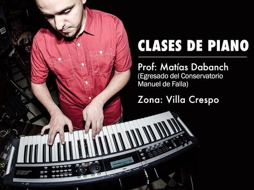clases de piano y teclado.   villa crespo
