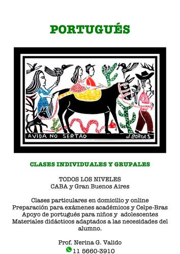 clases de portugués caba y gran buenos aires