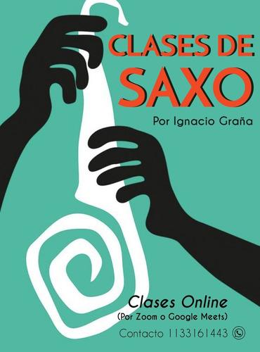 clases de saxo alto y tenor. online,domicilio,o en caballito
