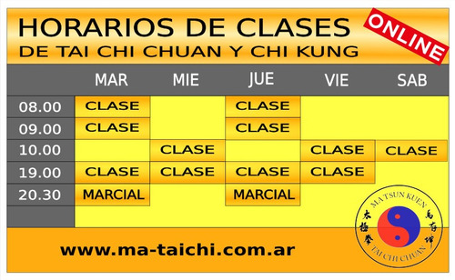 clases de tai chi chuan y chi kung on line