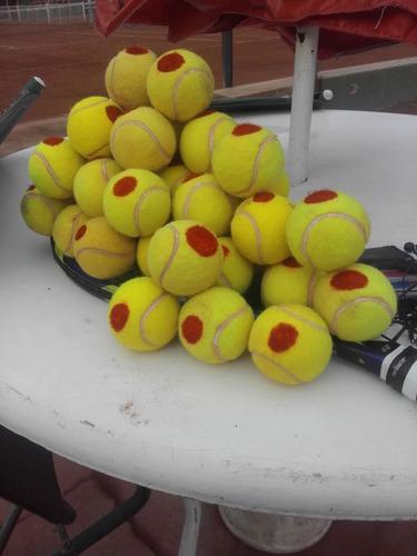 clases de tenis (solo edificios con cancha), encordados