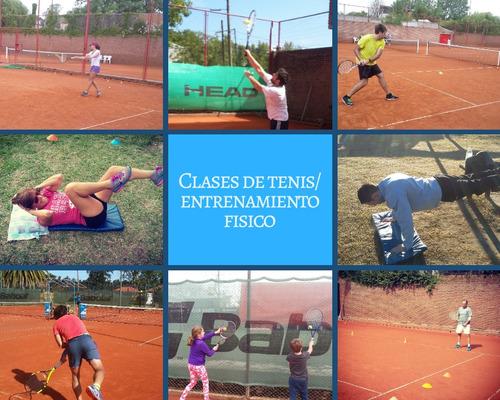 clases de tenis  y entrenam. fisico(s. isidro y vic. lopez).