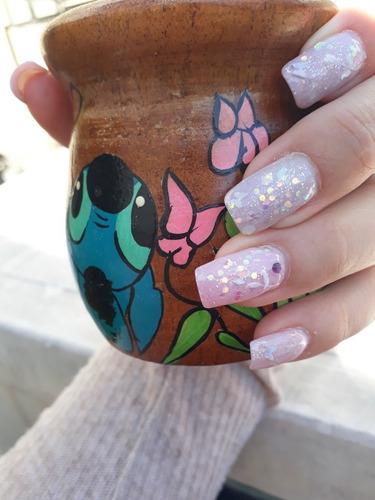 clases de uñas esculpidas en polygel  y en gel. decoración.