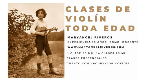 clases de violín presencial/oneline 20mil metropolitana