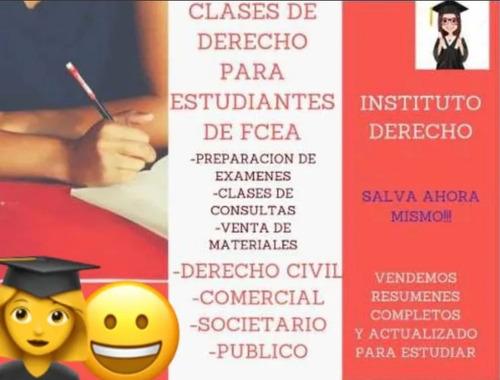 clases derecho notarial, liceo, utu, facultad y concursos