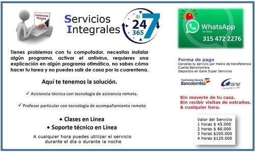 clases en linea - asistencia técnica en linea