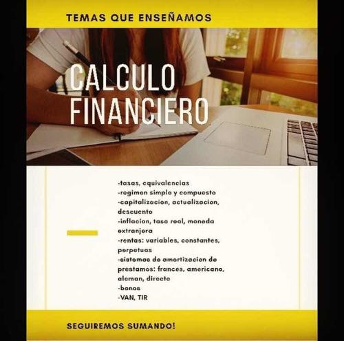 clases estadística calculo financiero contabilidad
