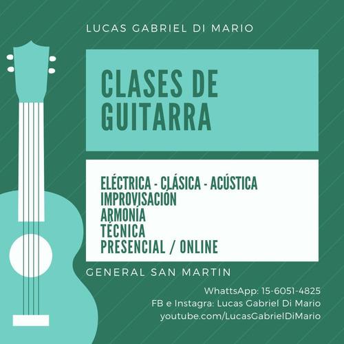 clases guitarra eléctrica/clásica/acústica online personal