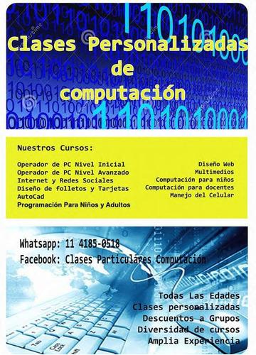 clases informática computación