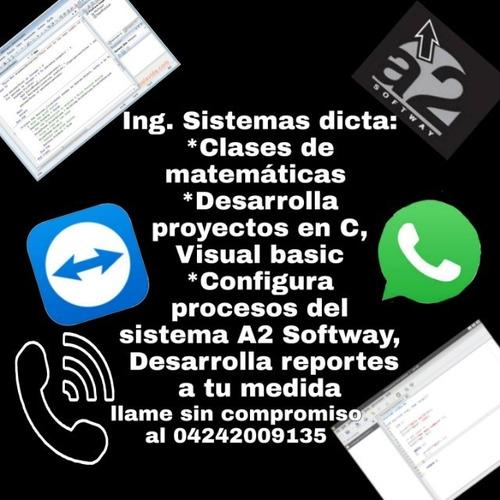 clases matematicas. desarrollo proyectos. consult a2 softway