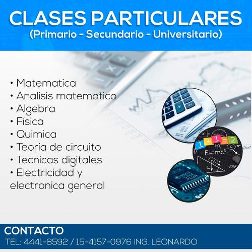clases matemáticas-física-química-electricidad-electronica