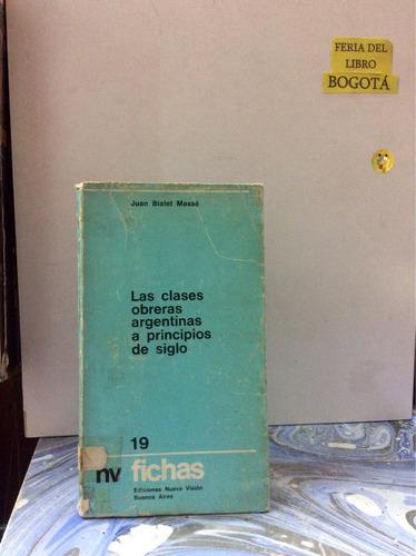 clases obreras argentinas a principio de siglo. bialet massé